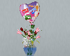 Flowers and a Ballon