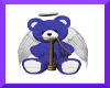 Purple angel bear