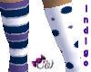 Indigo Clown Stockings