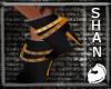Orange pirate shoes