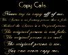 Gold Copy Cat