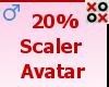 20% Scaler Avatar - M