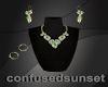Stormy Emerald Jewel Set