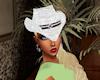 white ladies hat