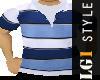LG1 Blue Polo striped