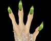 4 fingered green nails