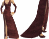 D. Burgandy Long Gown