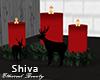 ❤ Christmas Fire Deers