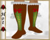 ~H~Kid Gingerbread Boots