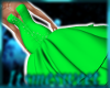 Glams Gown - Neon Green