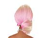 blonde and pink bun