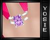 ~Y~Purple Diamond Ring