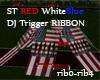 ST DJ USA R W B Ribbon