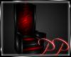 Black Red Latex Throne