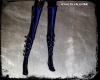 Thigh High Boots Blue