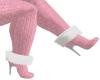 PINKsweater furtrim boot