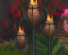3 Garden Torches
