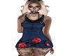 rose vine demin dress