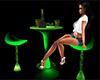 Green Neon Club Table