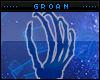 Blue Hand Pedestal