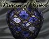 !PoE! Vase Blue Glass