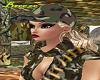 Army Hat/blond hair
