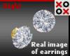 24K Diamond Bling Stud