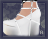 |A| White Doll Shoes