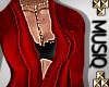 M| Femi Gown Red Med