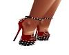 sexy spike heels red blk