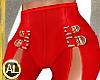 RED HIGH SLIT PANTS F