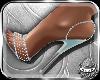 ! Blue Silver Heels