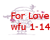 For love - wfu 1-14