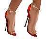(TO)hot red gold shoes