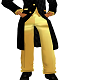 Gold suit pants