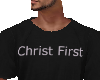 Christ First black tee M