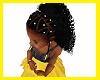 kids braids yellow beads
