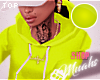 M! Drippin' Hoodie -Lime