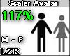 Scaler Avatar M - F 117%