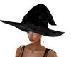 Black Fur Witchie Hat