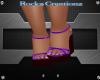 Purple Camo Sandals