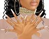 Bling Cream Nails