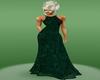 Green Crush Velvet Gown