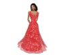 Red Speckled Gown