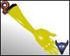 PVC gloves yellow (f)