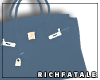 RF | Leather Tote -Storm