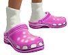 Pink Clogs w Socks