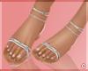 !© Tie Up Sandals White