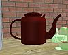 40's brown teapot
