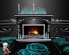 Fireplace(teal &silver)